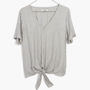 NWT - Madewell Novel Tie Front Top